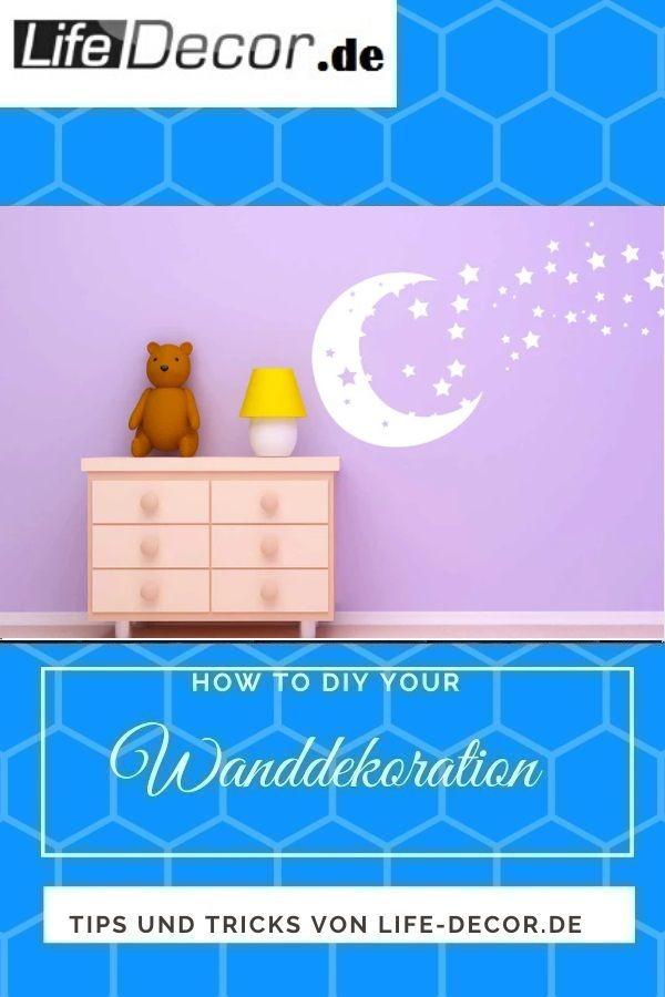 Wandaufkleber  Sterne und Mond 820 Erneuern Sie mit Lifedecor Home Wanddeko Die Wandtattoo Wandsticker helfen Ihnen eine Büro Ecke zu schmücken die Ansprüc...