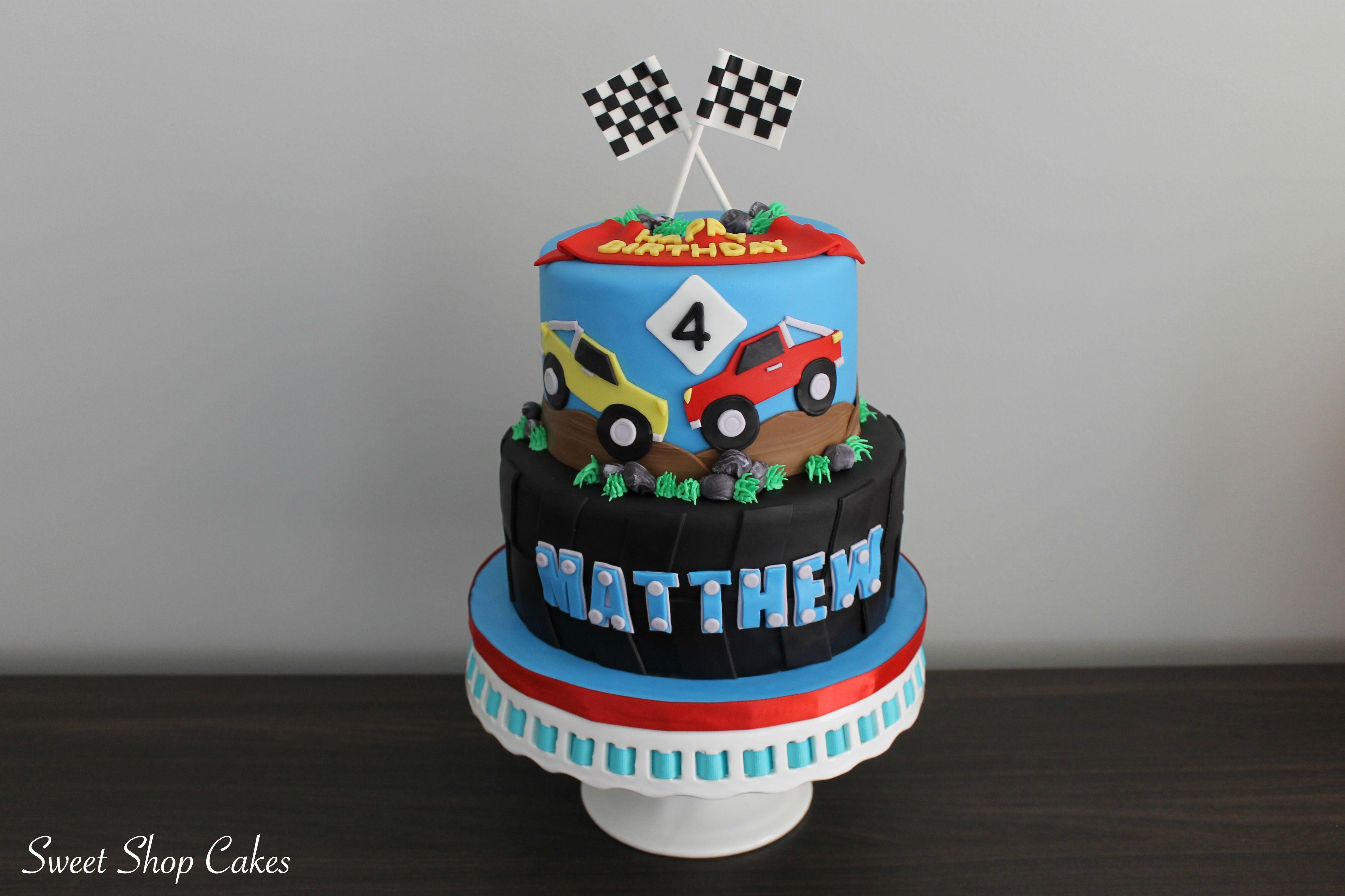 Monster Truck Themed Birthday Cake Birthday Pinterest Monster