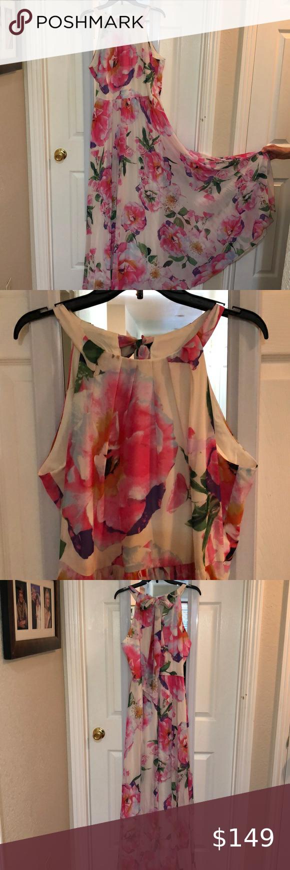 Inc Brand Flower Print Maxi Dress For Prom Wedding Beautiful Flower Dress Flowy Maxi Dress Size 16 Great Printed Maxi Dress Maxi Dress Size 16 Flower Dresses [ 1740 x 580 Pixel ]