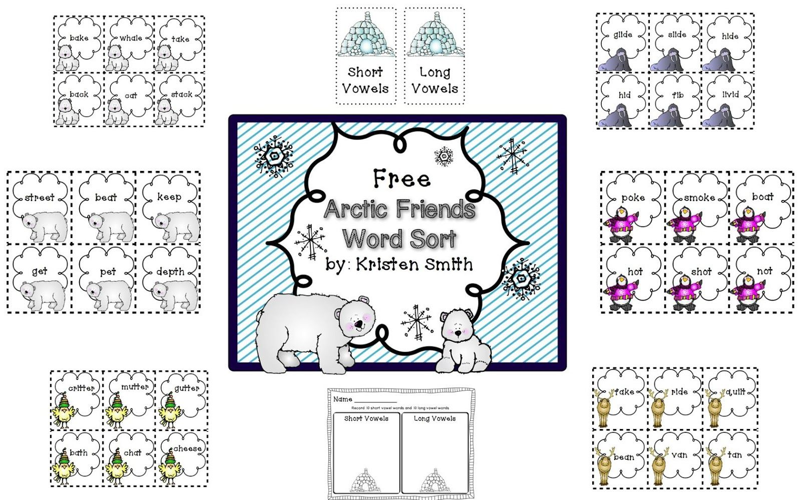 Free Long And Short Vowel Word Sort