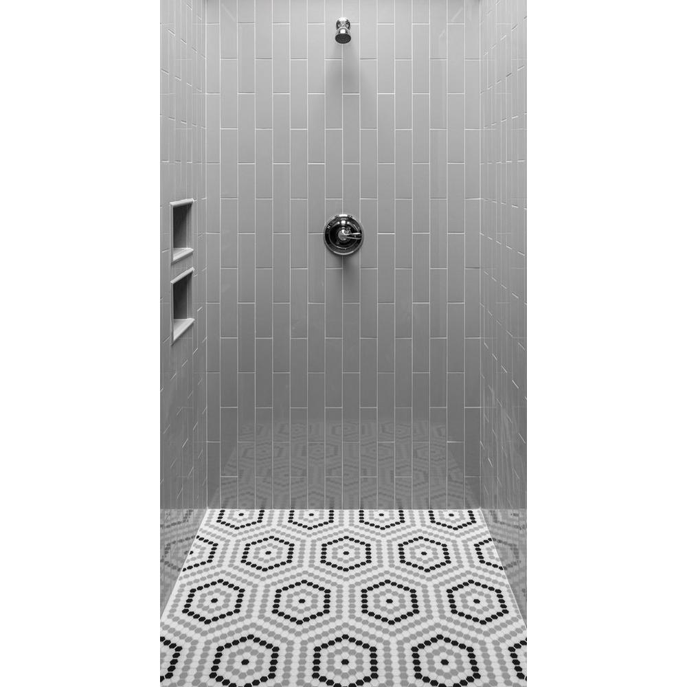 Retro 1 In Hexagon Porcelain Mosaic In 2020 Porcelain Mosaic Bathrooms Remodel Exterior Tiles