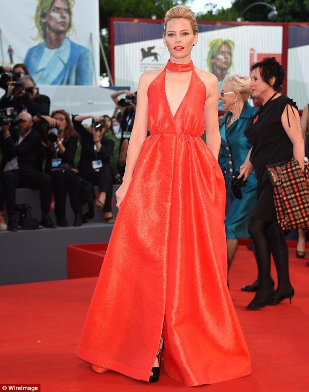 Elizabeth Banks stuns in scarlet gown as Venice Film Festival wraps ...