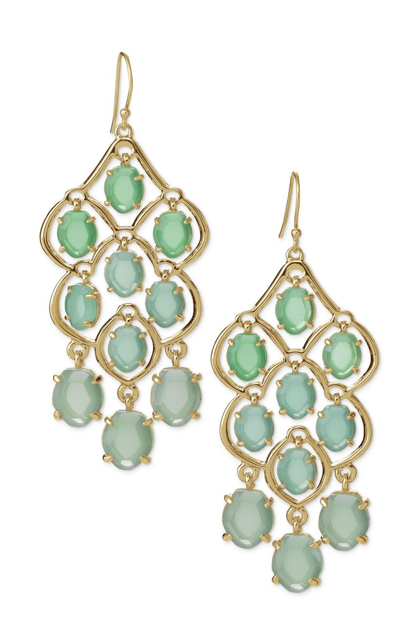 Green Stone Chandelier Earrings Hannah Chandeliers Stella Dot Stelladot Com Yasmineb