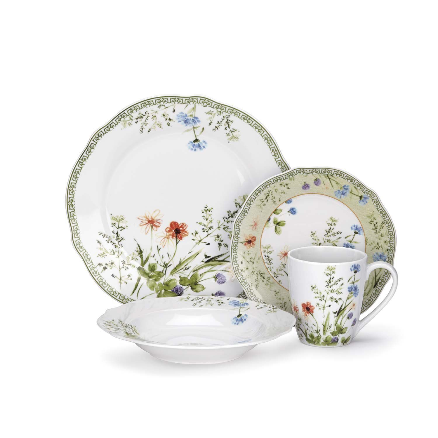 Cuisinart Fleurie Collection Porcelain Dinnerware Set - Overstock Shopping - Great Deals on Cuisinart Formal Dinnerware  sc 1 st  Pinterest & Porcelain dinnerware lends an instant elegance to any meal ...
