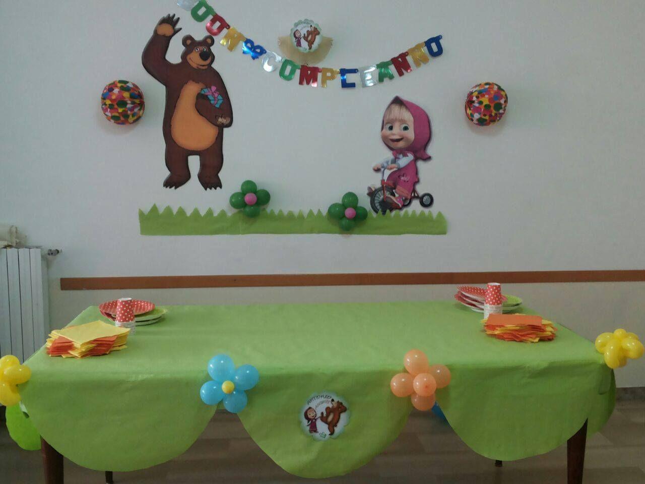Scrivania Per Bambini 2 Anni : Masha e orso anni elisa bear birthday bear party e birthday