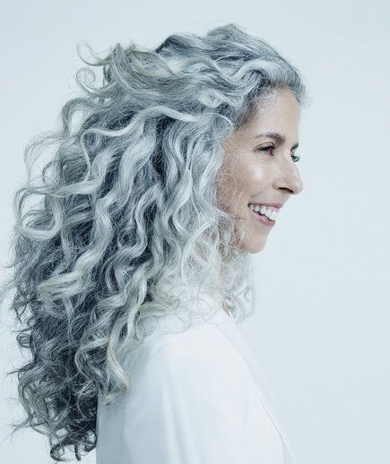 These 8 Women Will Make You Wish You Had Gray Hair Grey Curly Hair Natural Gray Hair Curly Hair Styles