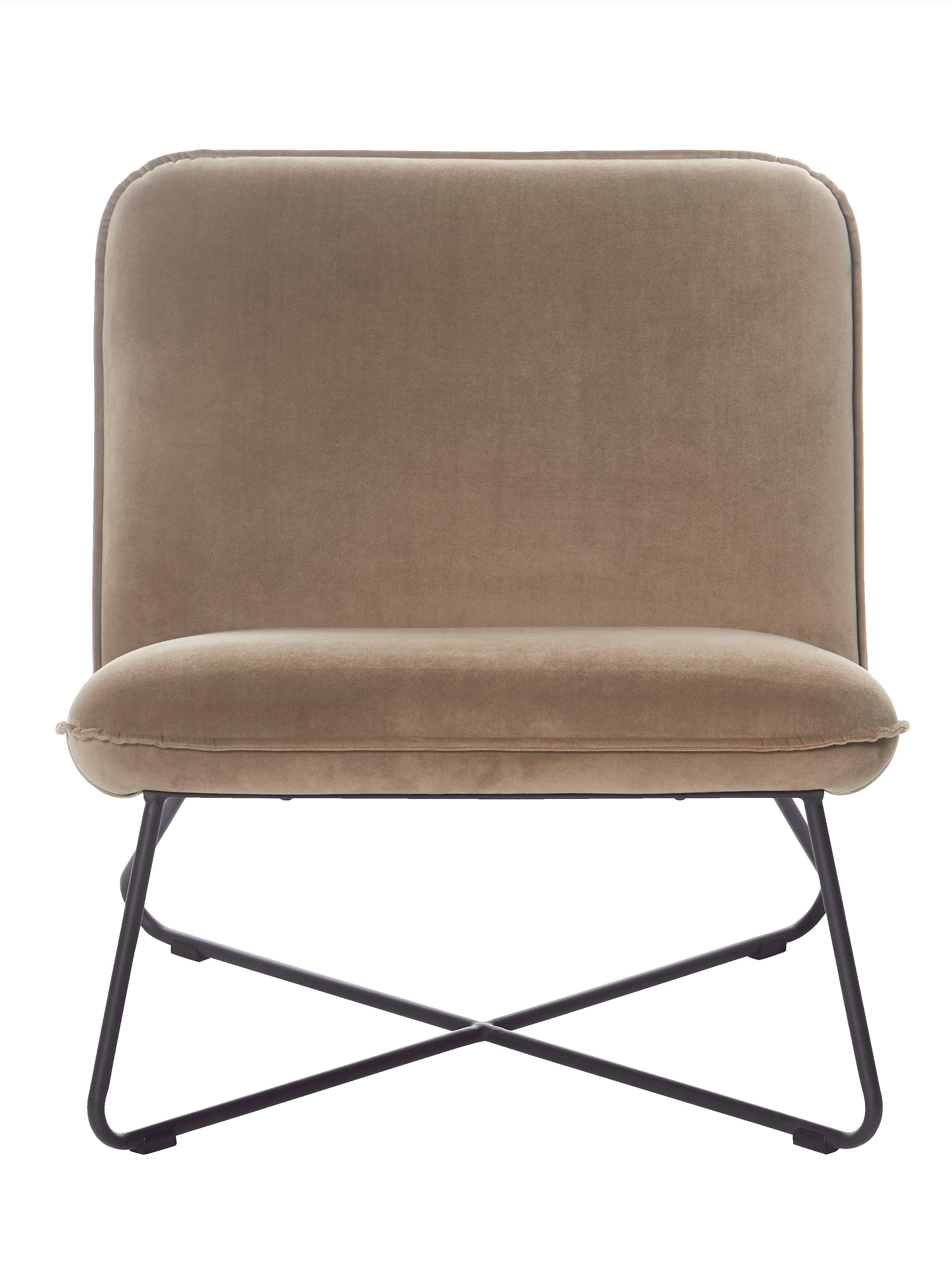 Interior Mobel Impressionen Living Sessel Metall Stoff