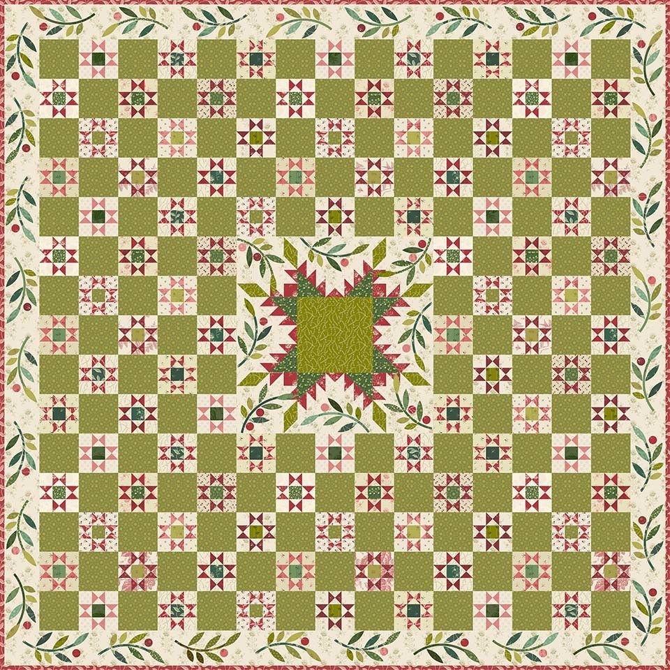Mistletoe Pattern Basket Quilt Laundry Basket Quilts Quilt Kit