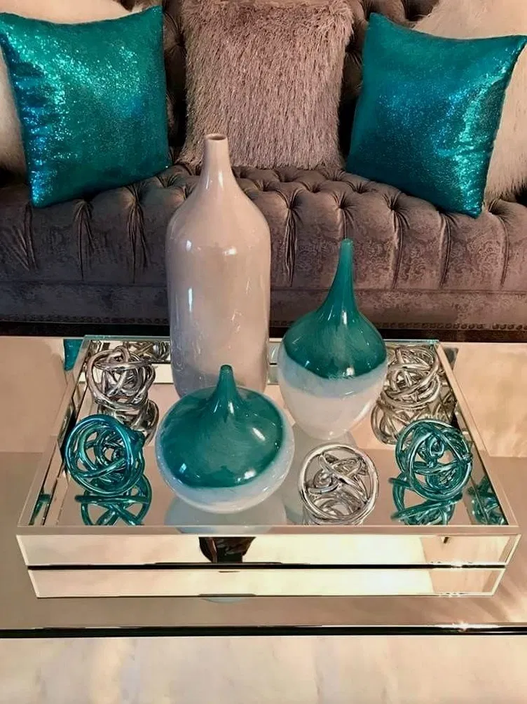 Teal Living Room Decor, Brown And Turquoise Living Room Decorating Ideas