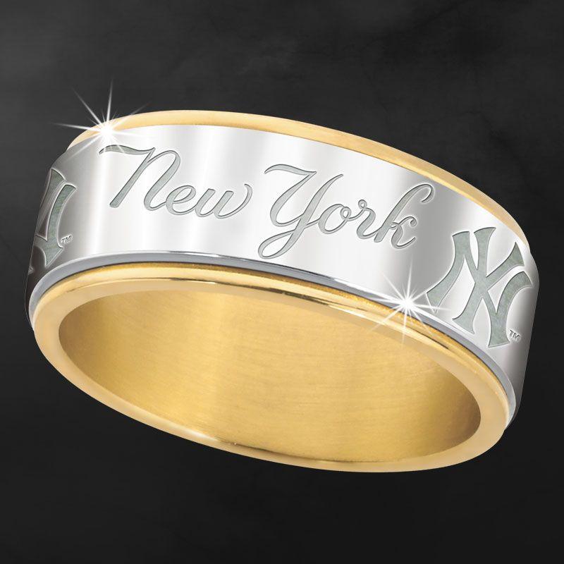 New York Yankees Spinner Ring Danbury mint Ny yankees and Champion