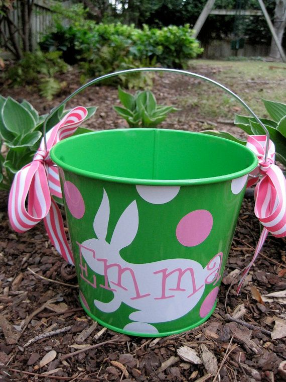 Easter bucket.  We got one of these last year from this seller on etsy...very pleased.  :)