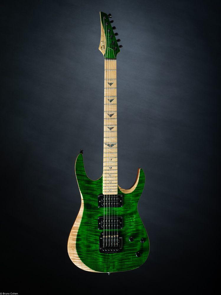 Guitare Electrique Sur Mesure Manche Conducteur 5 Pieces Erable Onde Wenge Corps Acajou Table Erable Onde Touche Erable O Guitare Electrique Guitare Wenge