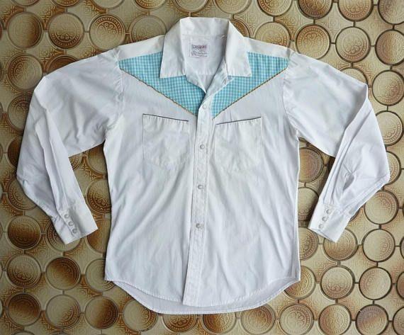 9661d21c Vintage 1960s Las Vegas by Cowboy Joe Men's Western Shirt. Medium ...