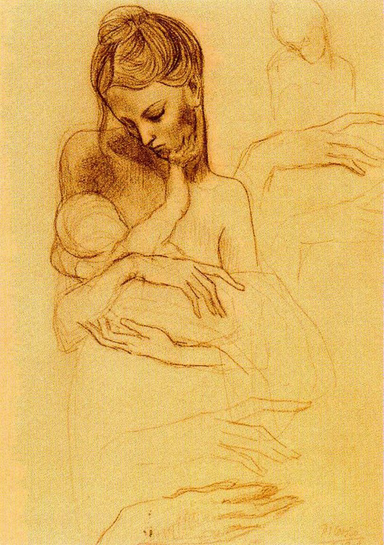 Женщина с ребенком картинки карандашом