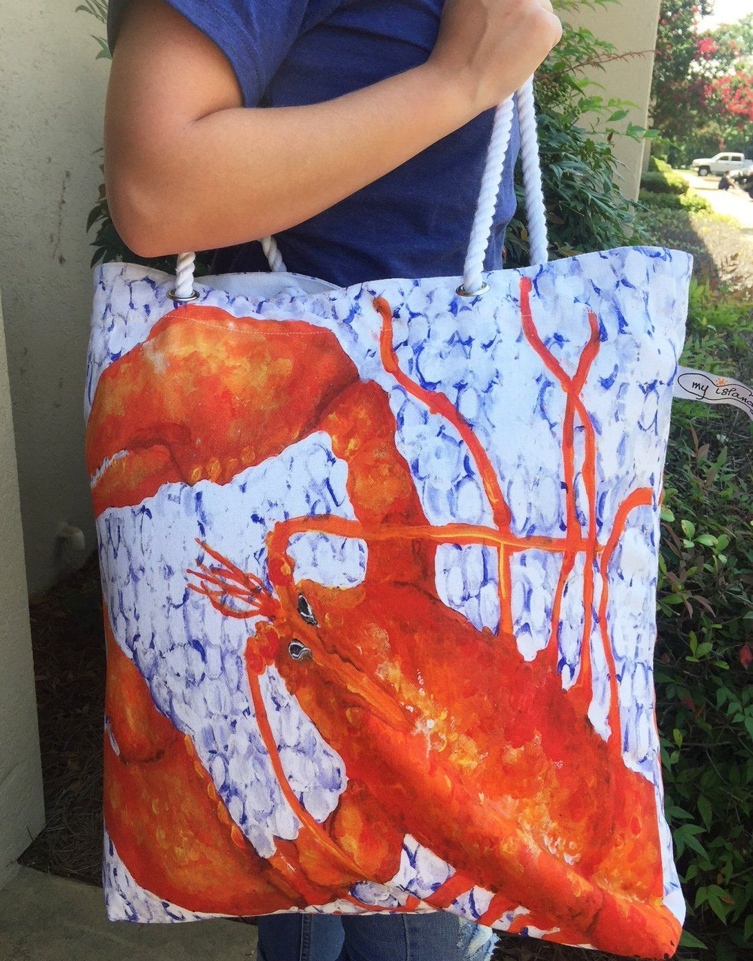 Lobster tote bag great for maine gift ideas canvas tote