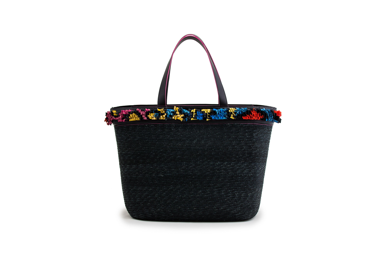 Azzurra Grochi spring/summer bags collection, shopper bag black