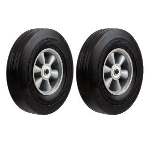 Two Heavy Duty Never Flat 10 Inch Solid Hard Rubber Hand Truck Wheels Fits 5 8 Axle By Industrial Tools 27 95 Sav House Materials Hand Trucks Hard Rubber