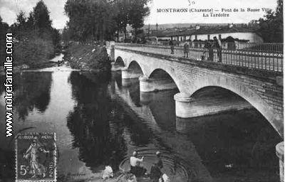 Cartes Postales Photos Pont de la Basse Ville   La Tardoire 16220 MONTBRON charente (16)