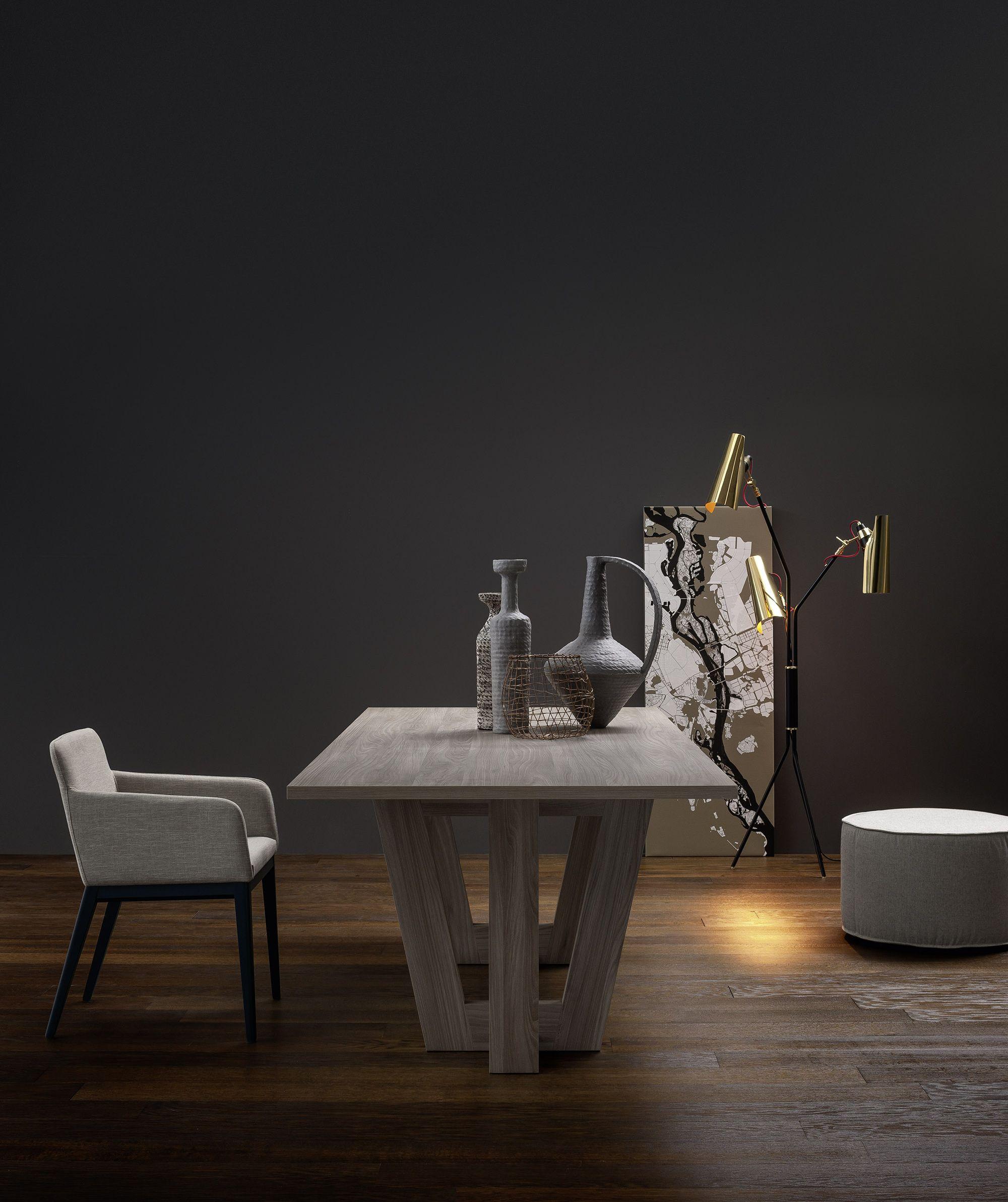 Novamobili Tisch Adam rechteckig | Designer tisch, Esszimmer möbel ...