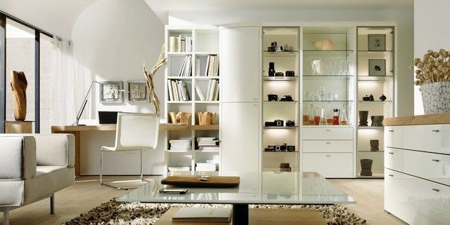 meubles de composition h lsta encado avec vitrine biblioth que armoires de rangement et bureau. Black Bedroom Furniture Sets. Home Design Ideas