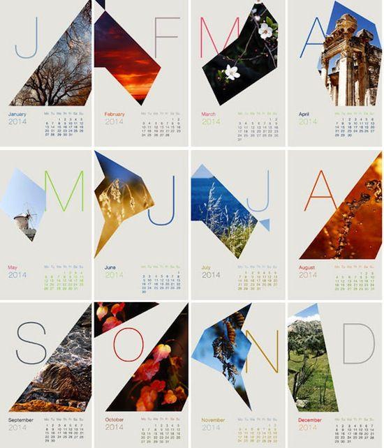 Calendar Inspirations : Creative calendar designs inspiration … journalizm