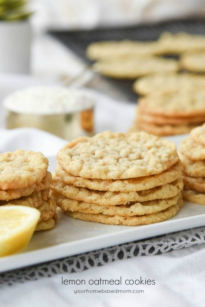 Light and crispy Lemon Oatmeal Cookies are the perfect treat for any lemon lover.