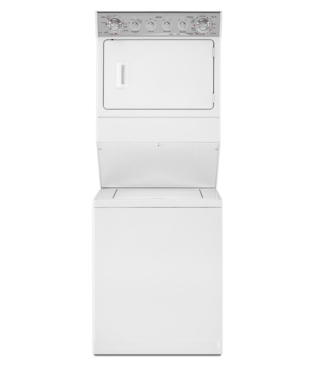 Stacked Gas Laundry Pair With Dependable Clean Wash System