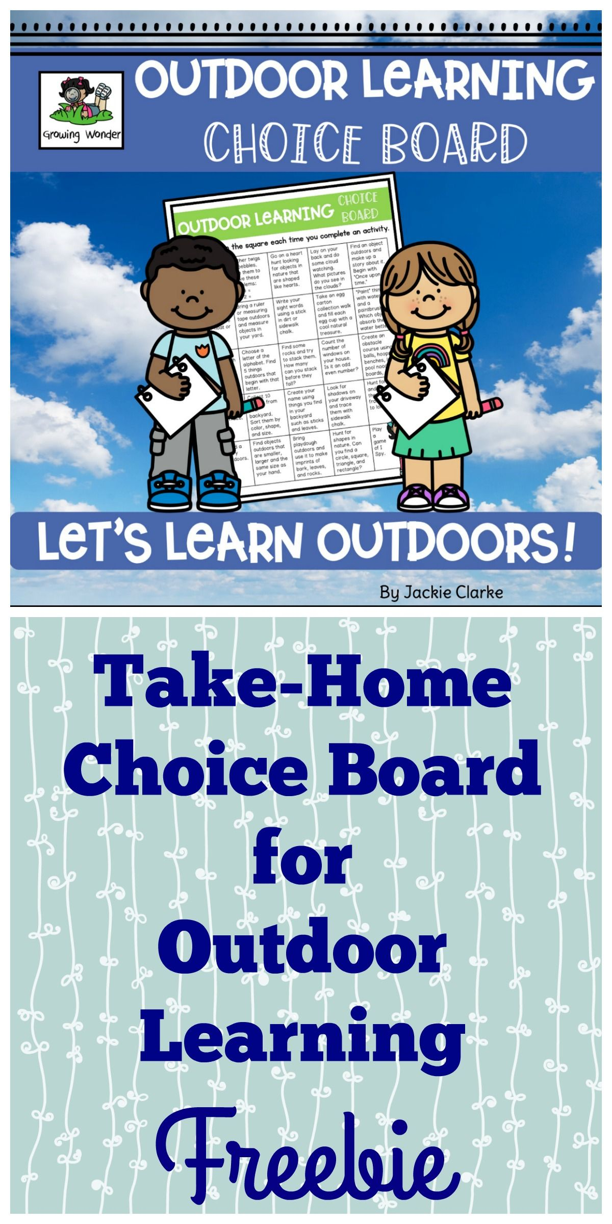 Take Home Choice Board For Outdoor Learning Kindergarten Routines Outdoor Kindergarten Choice Boards