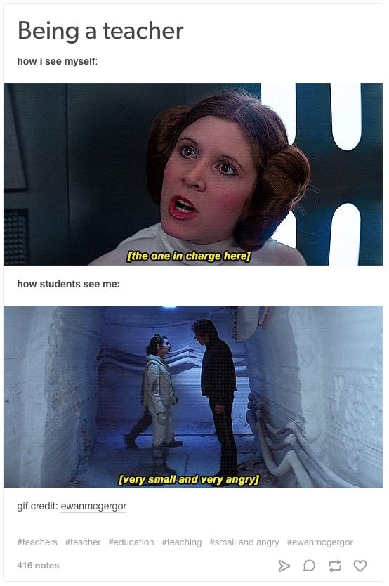 19 Tumblr Posts About Being A Teacher That Are Just Funny Star Wars Humor Star Wars Jokes Star Wars Memes