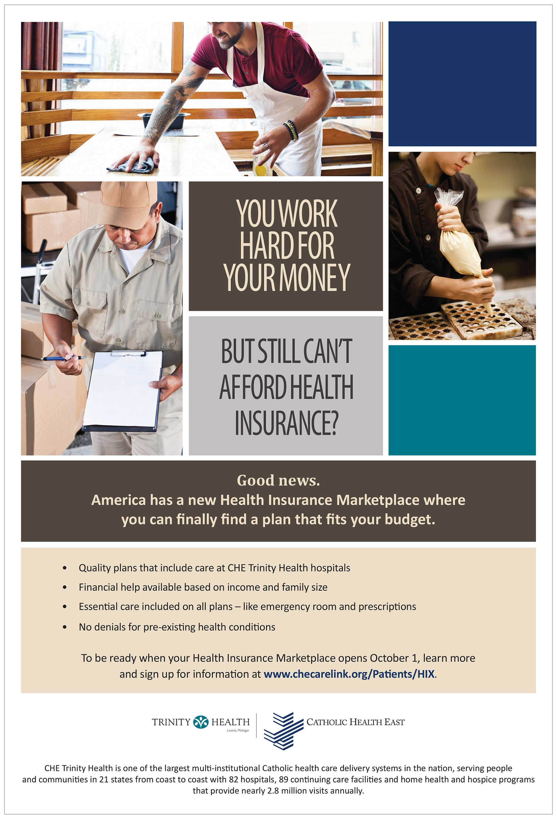 The Health Insurance Marketplace is open. Visit our
