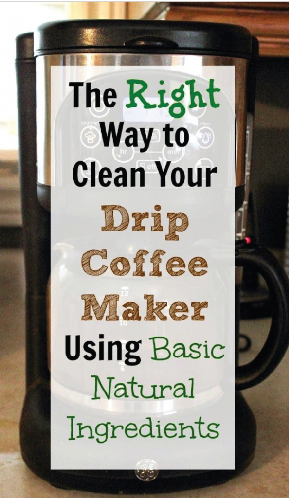 Drip Coffee Maker Vinegar : Spring Cleaning Tips for the Kitchen Cleanses, Coffee maker and Drip coffee maker