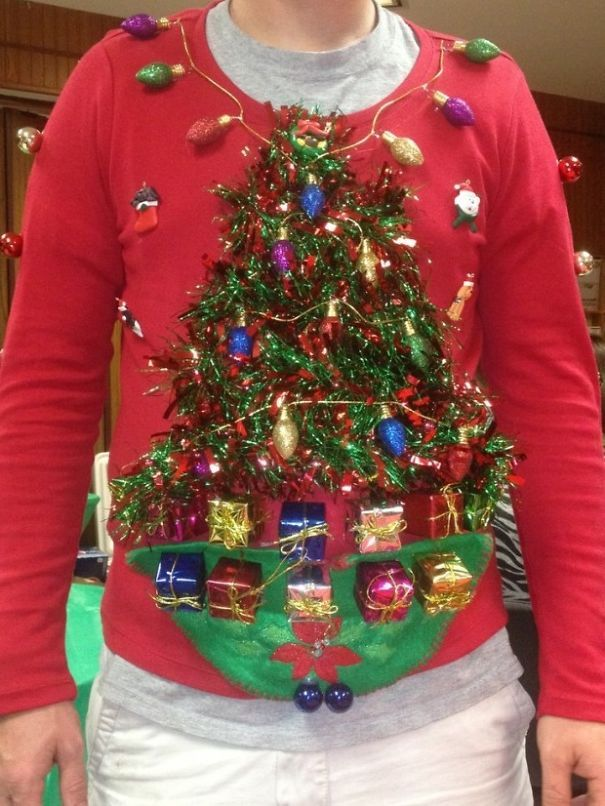 6cd6d7fd 37 Of The Most Creative Ugly Christmas Sweaters | festive frolics ...