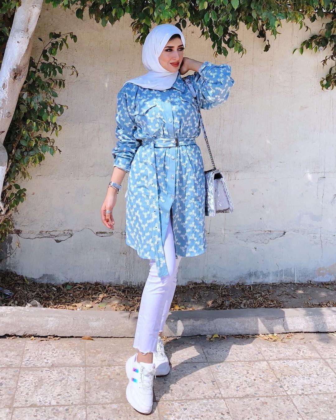 How To Style Light Blue Hijab Outfits Fashion Fashion Outfits Blue Outfit