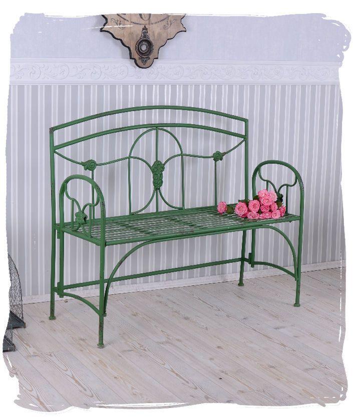 Garden Bench Art Nouveau Iron Bench Antique Style Garden Bench Green