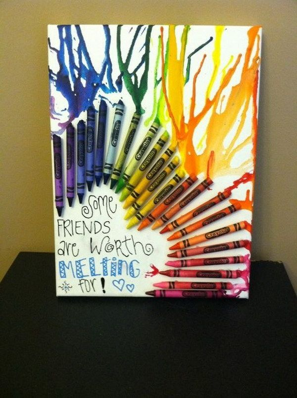22 perfect gift ideas for your best friends crayon art for A perfect gift for a friend