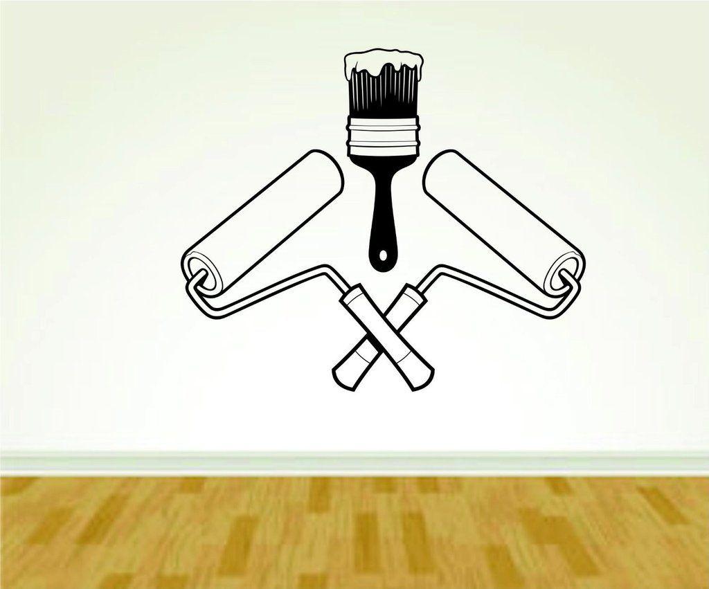 Painter Painting Tools Paint Brushes Business Logo In Uniform Nursing Vinyl