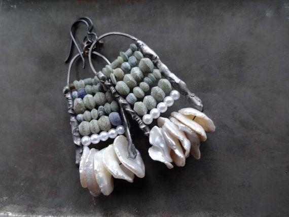 Abacus earrings by DiPiazzaMetalworks on Etsy