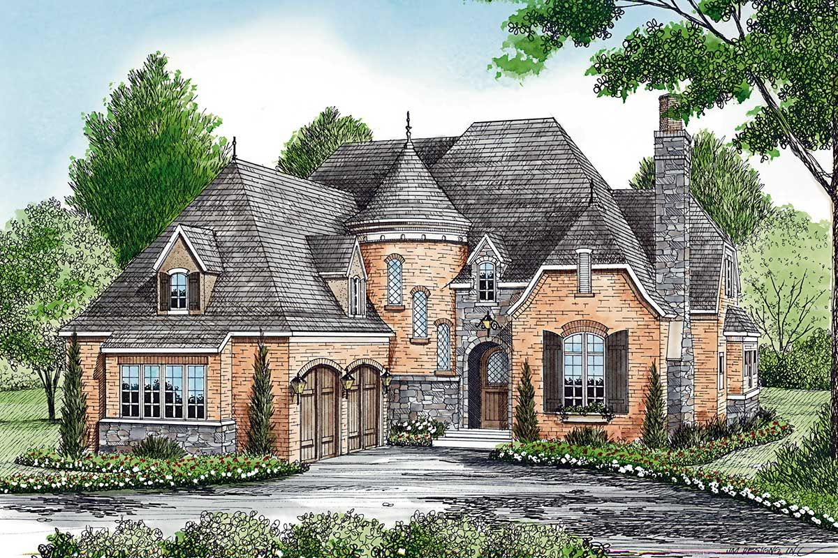 Plan 17587lv Charming European House Plan With Circular Stair French Country House Plans European House European House Plans