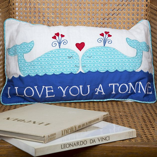 https://www.sassandbelle.co.uk/I Love You a Tonne Whale Cushion