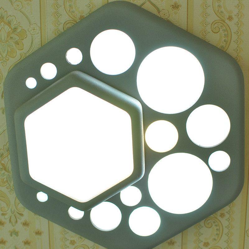 LED-Deckenleuchte Modern Sechseck aus Acryl im Schlafzimmer LED - moderne deckenleuchten fur wohnzimmer