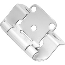 Hickory Hardware 2 Pack 2 1 4 In X 1 3 8 In White Concealed Self Closing Cabinet Hinge Hickory Hardware Overlay Hinges Overlay Cabinet Hinges