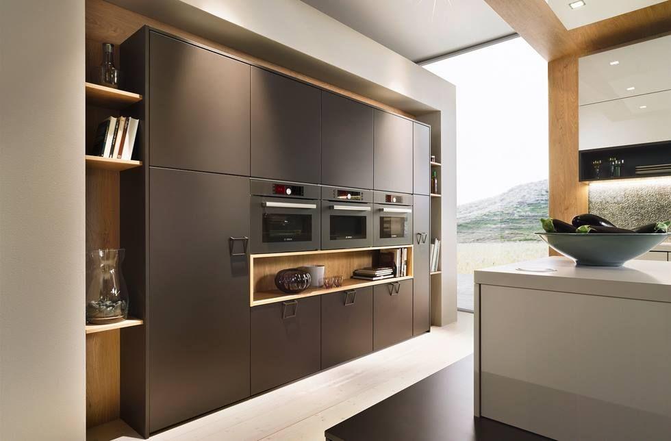 DAN-Kuchen ontwerp van keukenwand met inbouwapparatuur. | DAN-KUCHEN ...