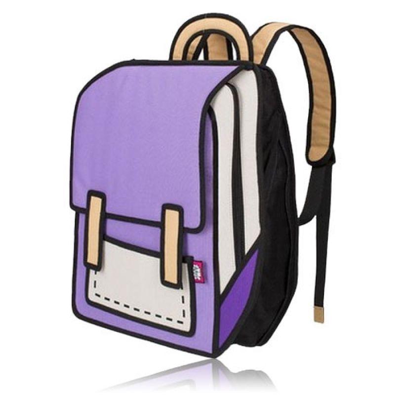 ea90186ce556 Creative 3D Stereoscopic Cartoon Nylon Backpack Schoolbag Purple. Women s  BackpacksCanvas ...