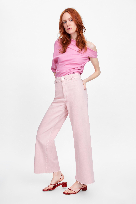 Jeans Zw Premium Marine Straight Pink Straight Jeans Fashion Women Jeans