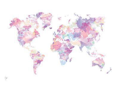 Travel The World Water Color World Map Mac Wallpaper Macbook Wallpaper