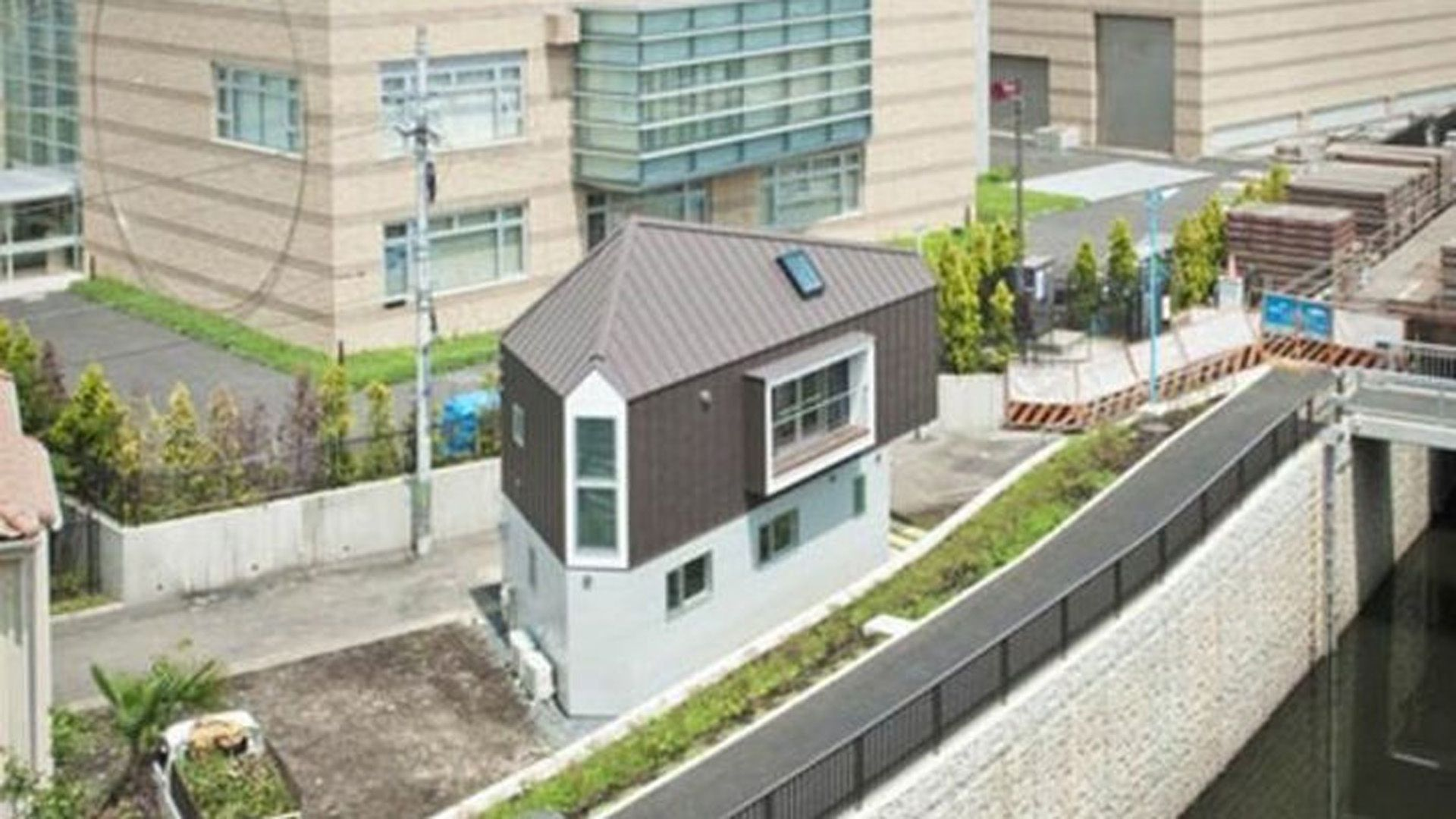 La increíble casa japonesa triangular
