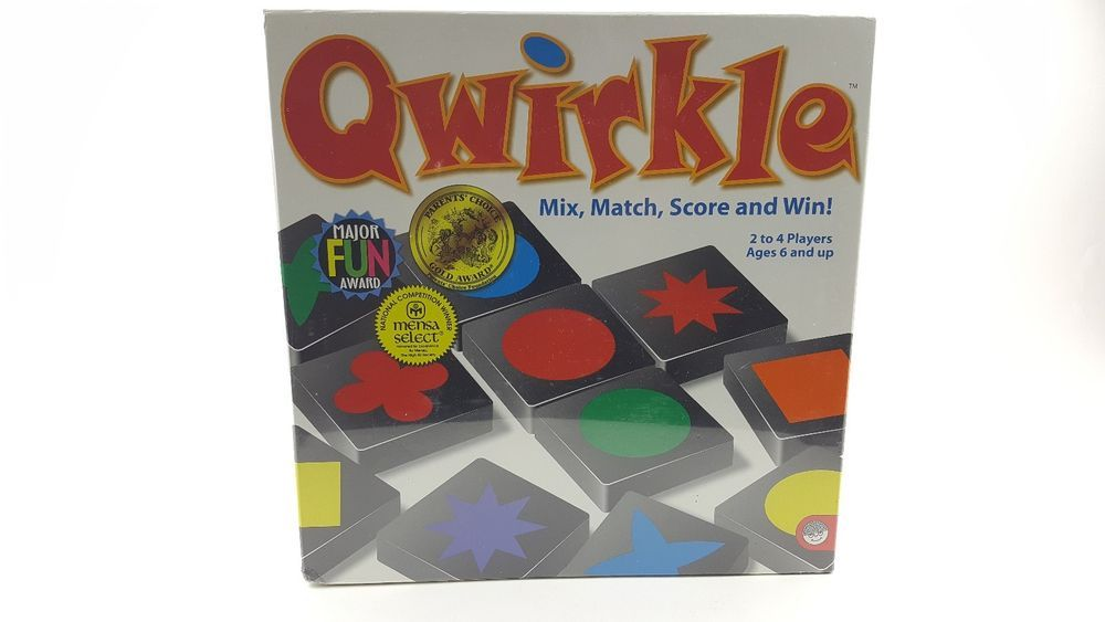 Qwirkle Board Game New Family Friend Fun 2 to 4 Players