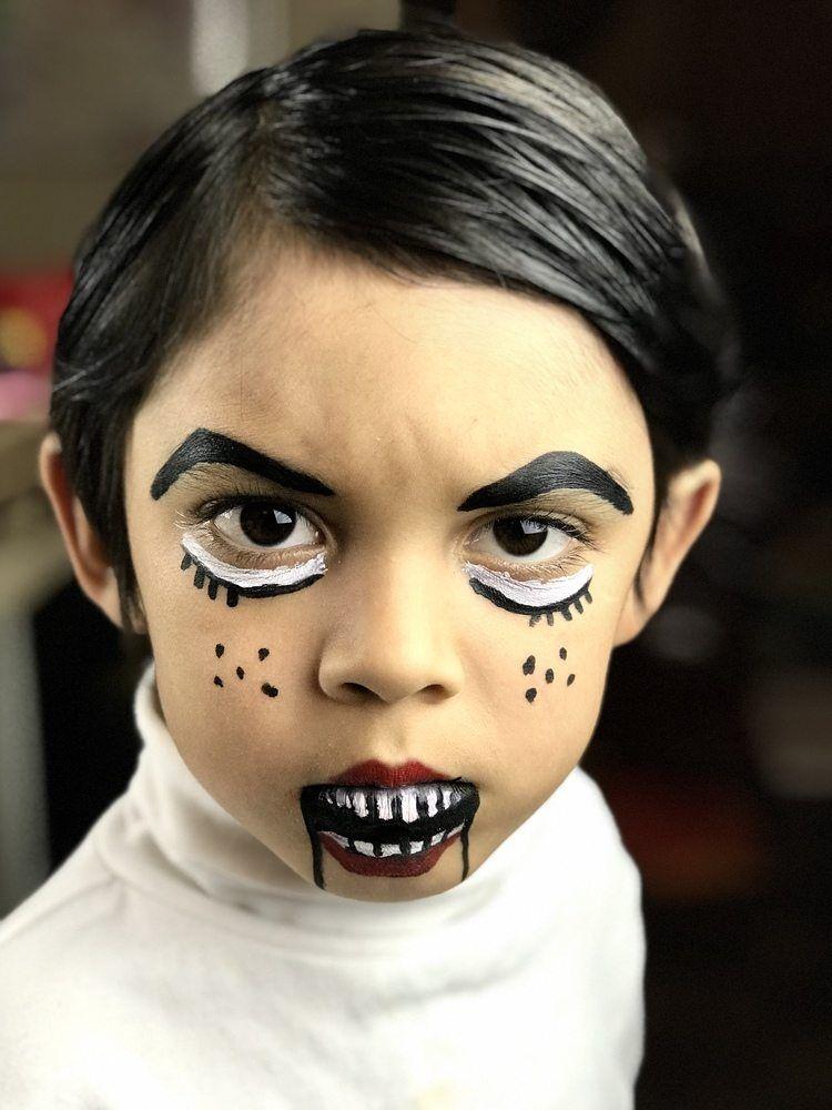 Creepy Dummy Face Painting Ideas For Halloween Face Painting Face Painting Halloween Face Painting Easy