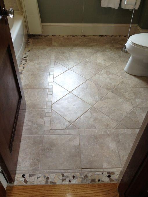 Private Retreat Patterned Bathroom Tiles Floor Tile Design
