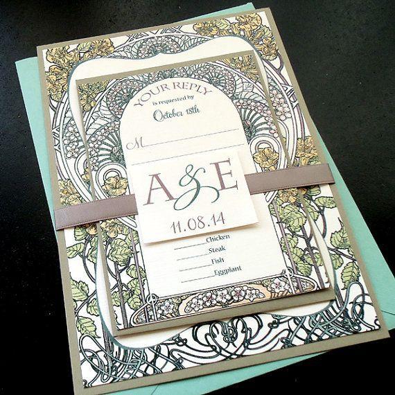 for Megan C. - Botanical Garden Wedding Invitation Sets - DEPOSIT Reserved for Autumn H Botanical Garden Wedding by dearemmaReserved for Autumn H Botanical Garden Wedding by dearemma